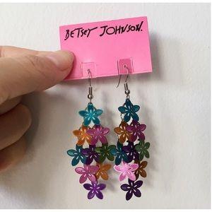 BETSEY JOHNSON Floral Cascade Earrings